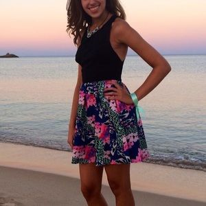 Fun black and pink patterned dress
